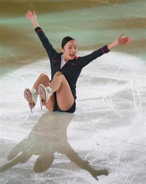 フィギュアスケートオールジャパンメダリストオンアイス2016で観客を魅了した本田真凜(松永渉平撮影)