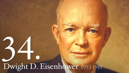 Explains what Eisenhower did as President of the United States.