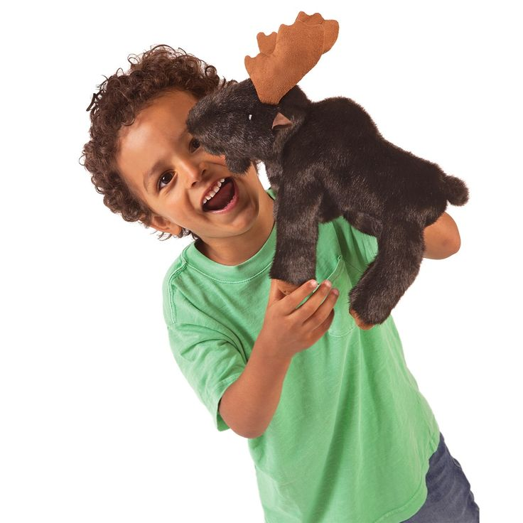 Small Moose Hand Puppets by Folkmanis Puppets