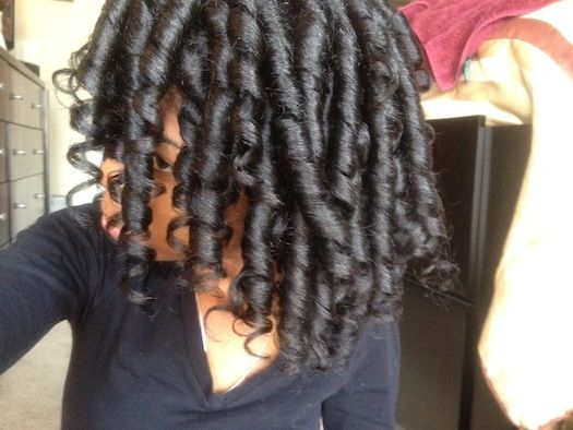 April // Natural Hair Style Icon | Natural, Flexi rods and