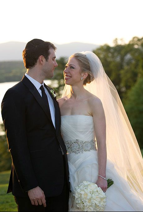 We love this hair style and classic wedding feel from Chelsea Clinton, who wore Vera Wang to get married in 2010. From Brides.com