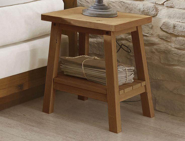 Moderner Nachttisch mit zwei Ablageflächen Bettende - schlafzimmer aus massivholz