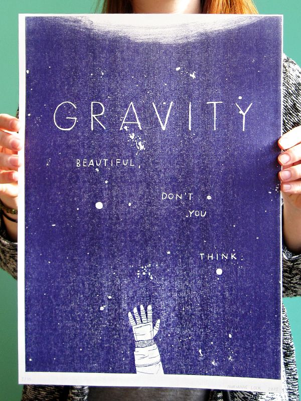 Made by Marianne Lock / Movieposter / Gravity / Film / Poster / FOR SALE