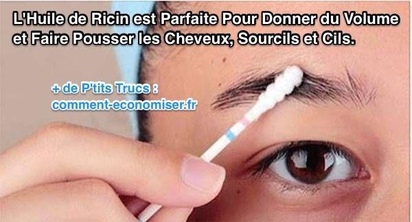Si vous appréciez les remèdes 100 % naturels et peu coûteux pour soigner les problèmes récurrents de la peau et des cheveux, ne cherchez pas plus loin : l'huile de ricin est LE remède naturel qu'il vous faut.  Découvrez l'astuce ici : http://www.comment-economiser.fr/huile-ricin-parfaite-pour-volume-cheveux-sourcils-cils.html?utm_content=buffer987d0&utm_medium=social&utm_source=pinterest.com&utm_campaign=buffer