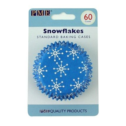 Bak prachtige winterse creaties in deze sneeuwvlokken baking cups van PME. Ideaal voor heerlijke cupcakes of muffins.
