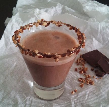 We're nuts over this Chocolate Pecan Froth recipe. The iced drink captures the flavors of chocolate covered pecans for a sweet and salty delight. #Chocolate