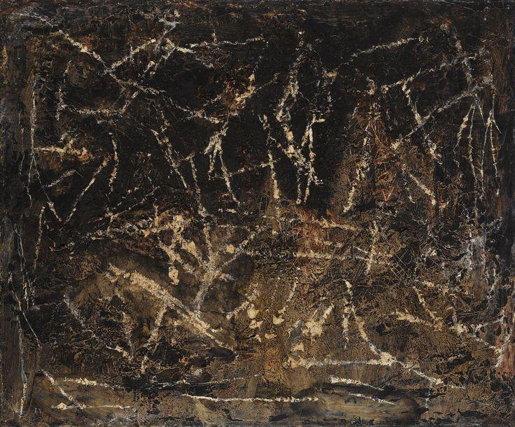 Francois Fiedler Untitled 1965 oil on canvas 49 x 59 cm- Kalman Maklary Fine Arts
