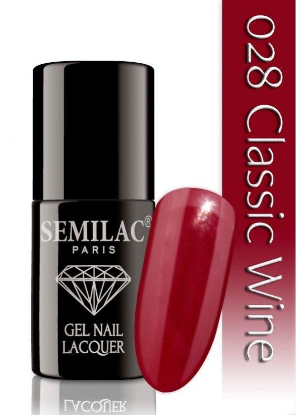 Semilac 028 Classic Wine UV&LED Nagellack. Auch ohne Nagelstudio bis zu 3 WOCHEN perfekte Nägel!