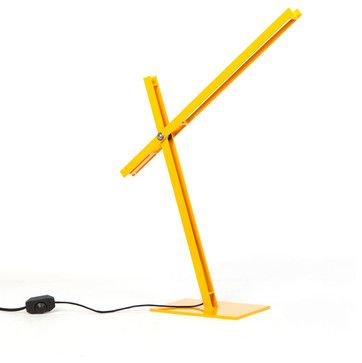 Cantilevered Desk Lamp - Yellow industrial-desk-lamps