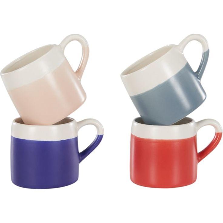 Nada Set of 4 Oversized Mugs, Multicoloured Matt Glaze from Made.com. Multi-Coloured. The Nada set contains 4 oversized mugs with comfy handles. Per..
