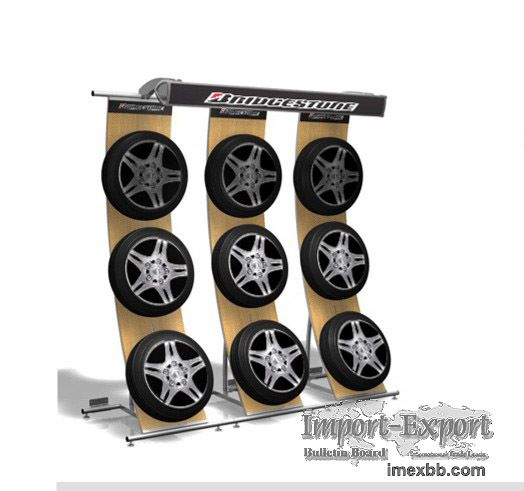 tire retail displays   tyre display rack stand store fixtures shop fittings