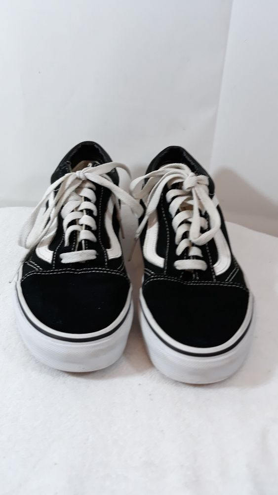 34825cdbf4 Vans Off The Wall Black  white Sneakers 721356 Lace Up men 6.0 women 7.5