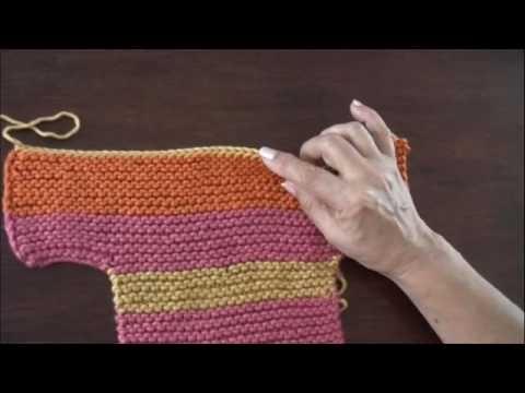 Video tutorial de las pantuflas de colores (parte 2) | Tejido en ...