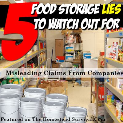 The Homestead Survival | 5 Food Storage Companies Lies or Misleading Claims |  Homesteading