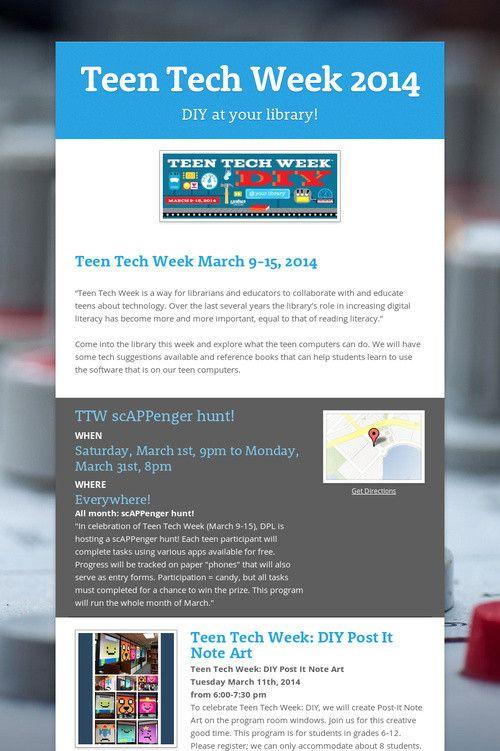 Teen tech week never really