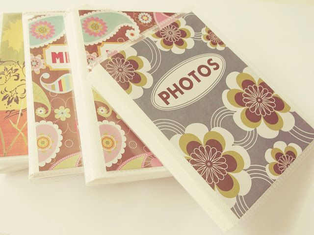 """Take these cheap dollar brag books and transform into decorated journals. This is a """"before"""" picture above."""