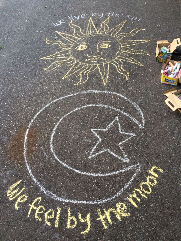 Chalk art! If you actually try, it looks SO cool!