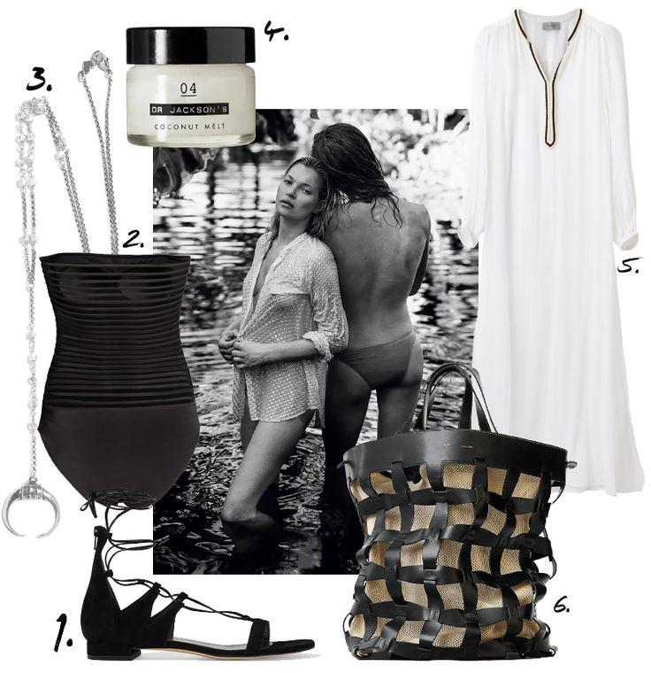 Kate Moss - Beach Style. Johanna P.