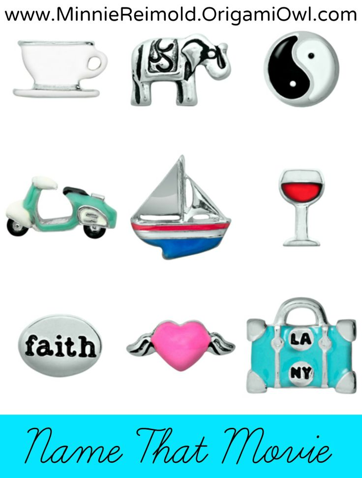 Origami Owl Name That Movie! game. Answer: Eat, pray, love lockinlove7.origamiowl.com