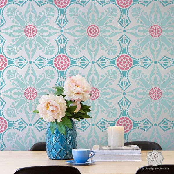 415 best stenciled & painted walls images on pinterest | wall