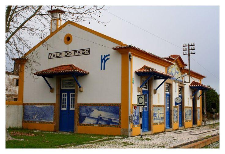 Jorge Colaço | Estação Ferroviária de / Railway Station of Vale do Peso | s.d. #Azulejo #JorgeColaço