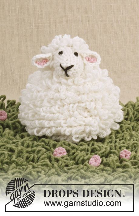 Dolly - #crochet sheep with loop sts in #dropsdesign Merino Extra Fine
