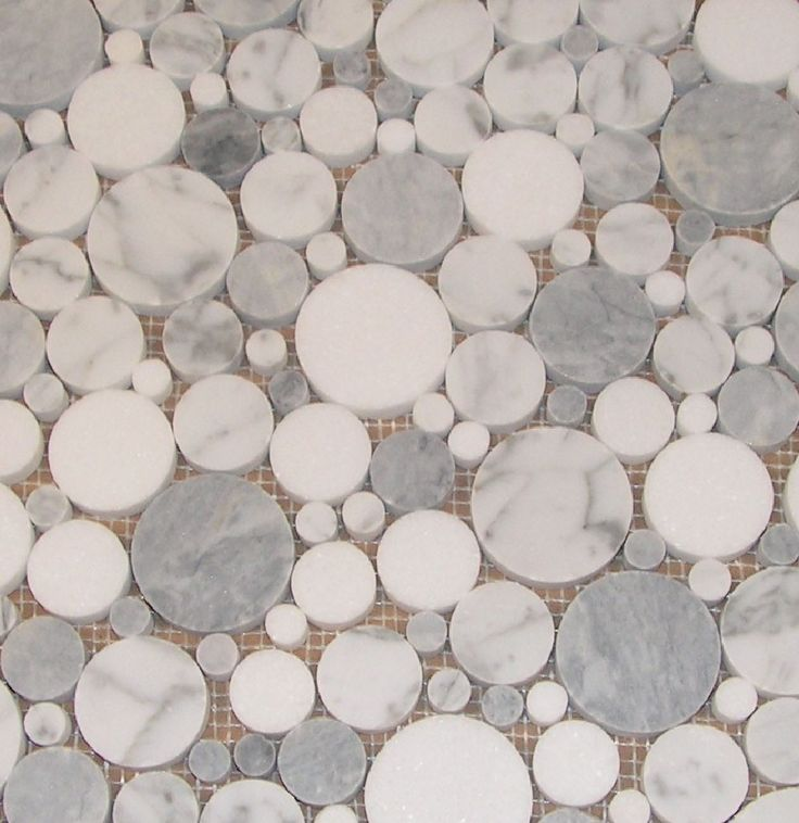 round glass tiles bubbles | ... Marble and Grey Smoke with Thassos Bubble Mosaic Polished Luxetile