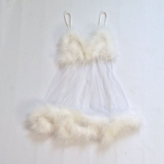 etsygold:  Angel feather nightie(more information, more etsy gold)
