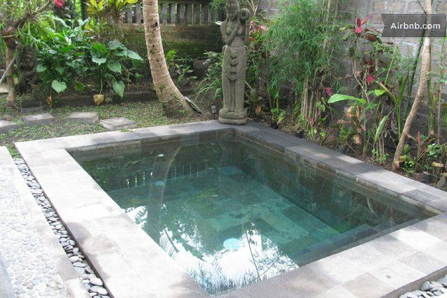 Plunge pool with statue pool pinterest gardens for Garden plunge pool uk