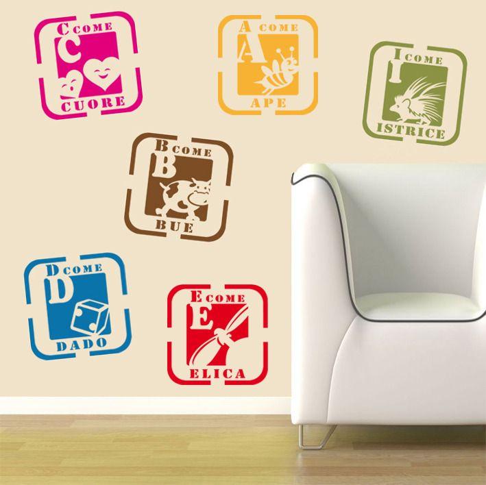 Oltre 20 migliori idee su stencil alfabeto su pinterest - Stencil camerette bambini ...