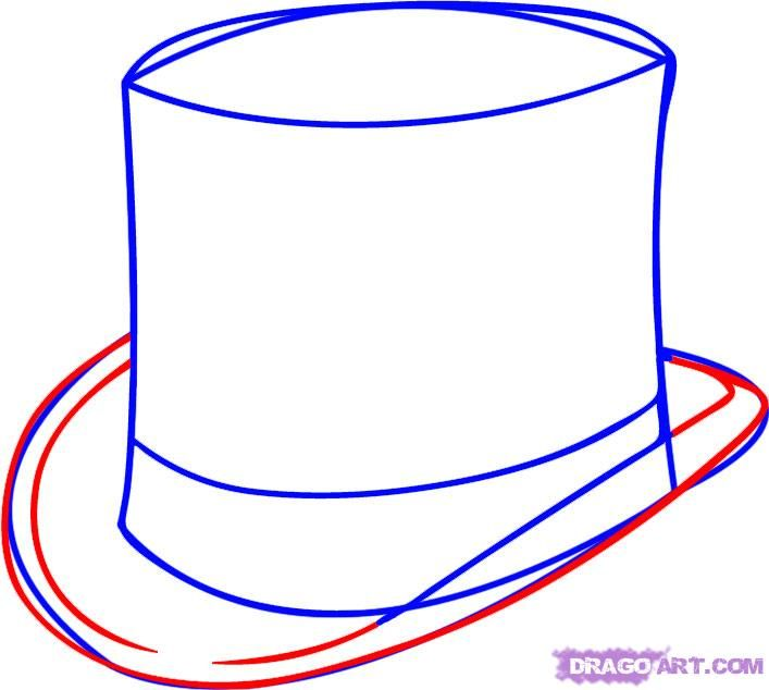 how-to-draw-a-hat-step-3.jpg (707×634)