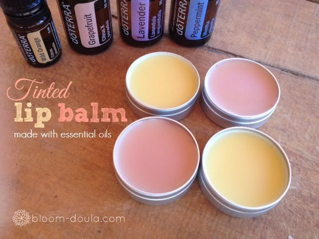 DIY: all-natural tinted lip balm made with essential oils and beet root powder {for color}