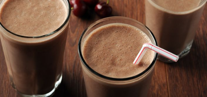 Power Packed Peanut Chocolate Covered Cherry Smoothie | Scrumptious| Energy Boosting Breakfast for Only 217 Calories | 10 g Protein | @Powerpeanut #Client | For MORE RECIPES please SIGN UP for our FREE NEWSLETTER www.NutritionTwins.com