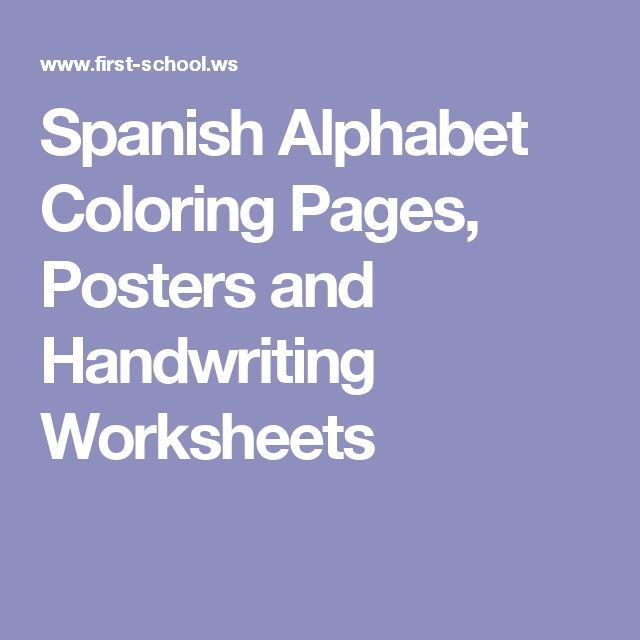 Number Names Worksheets spanish handwriting worksheets : 1000+ ideas about Spanish Alphabet on Pinterest | Spanish, In ...