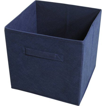 collapsible storage bins pack 4 blue