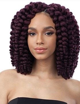 Hand-made, individually pre-looped Crochet braiding hair Wand Curl Braid collection Available in Wig unit (Bubble Wand) Quick and easy styling 2x amount of hair in one package!