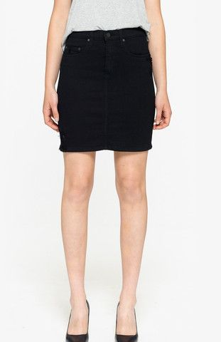Noir Denim Skirt | Eldorado