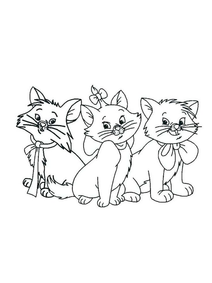Cartoon Kitten Coloring Pages. The kitten is a new born ...