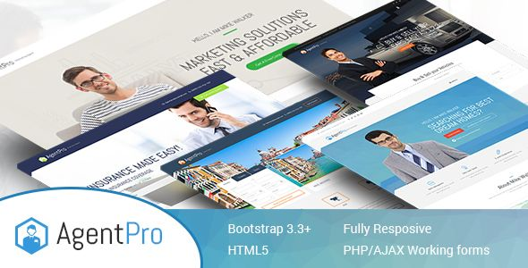 Agentpro - Exclusive Agents/Agency Landing Page HTML Template (Marketing) - http://buyonlinewebsite.com/agentpro-exclusive-agentsagency-landing-page-html-template-marketing/