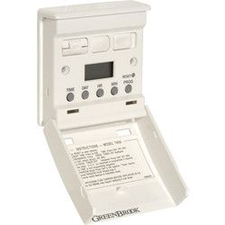 Electronic Wall Switch Timer 7 Day. Replaces existing 1 or 2-way light switch. Operates ceiling or wall lights with up to 6 on/off programmes. Simple one