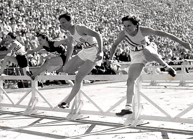 My Great Aunt Babe Didrikson winning the hurdles in the 1932 Los Angeles Olympics