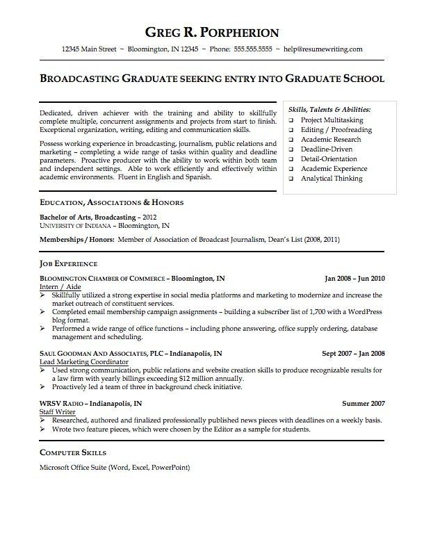 Good Resume Examples For College Students Best Resume Collection