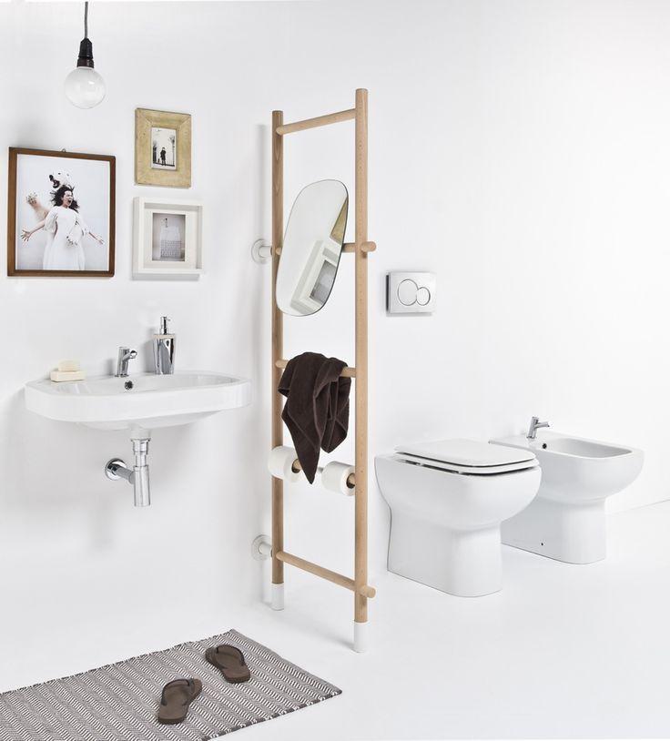 Una rassegna di accessori di design per il bagno, dal portasciugamani al dosatore per il sapone, al portaspazzolino