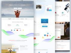 I was working on this last week, this is a landing page for Marketing Influencer.  some charts are taken from  https://dribbble.com/shots/3047205--Freebies-Kavina-Dashboard-Analytics-Light-Version#...