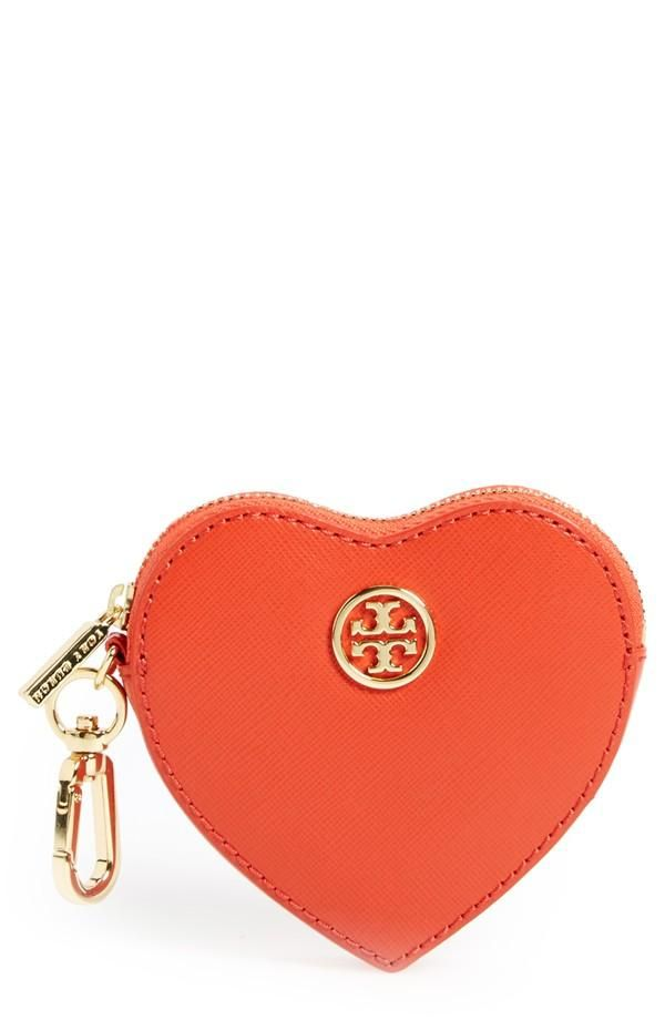 Absolutely 'heart' this orange Tory Burch purse!