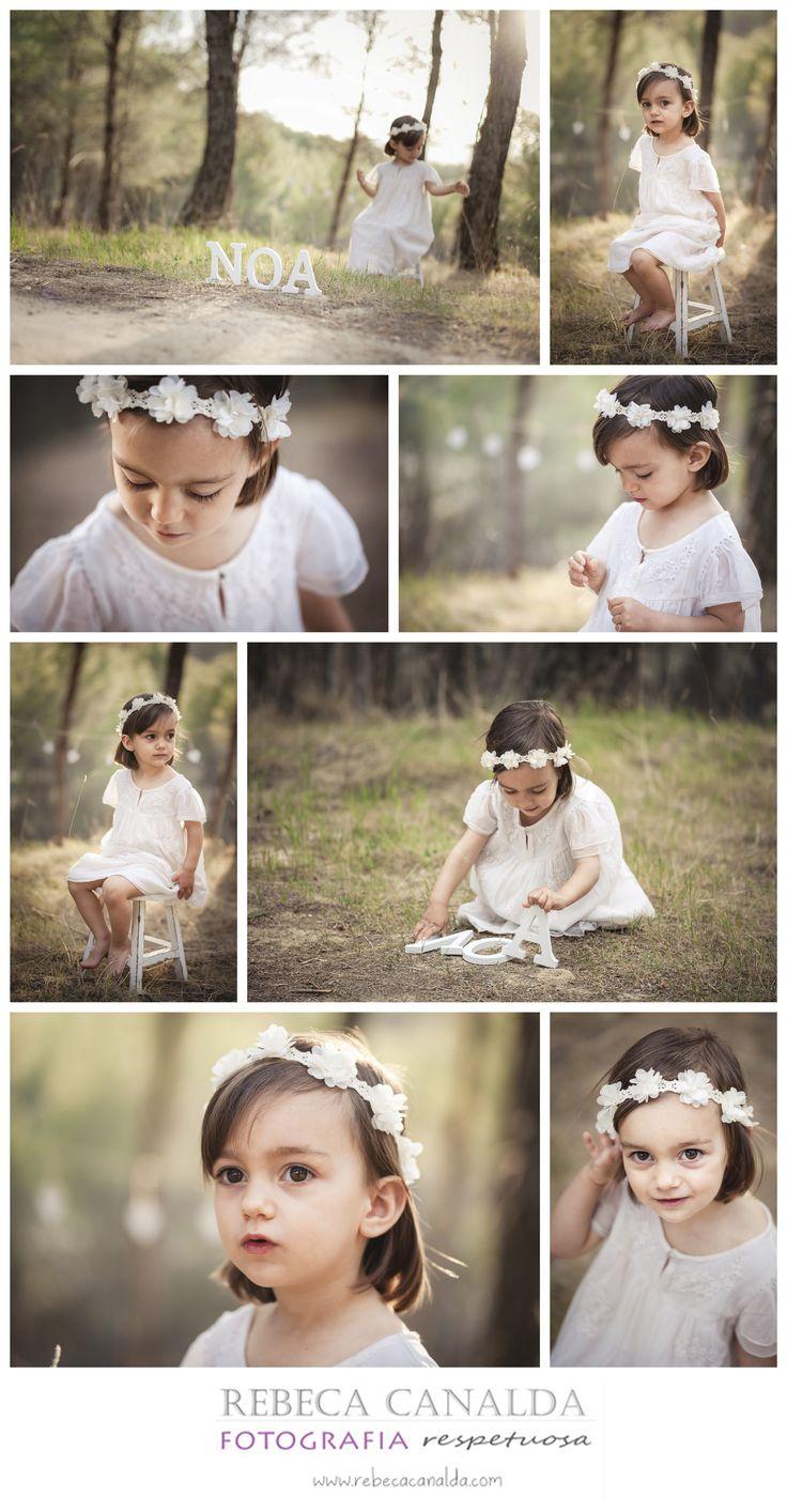 Fotografia niña exterior campo