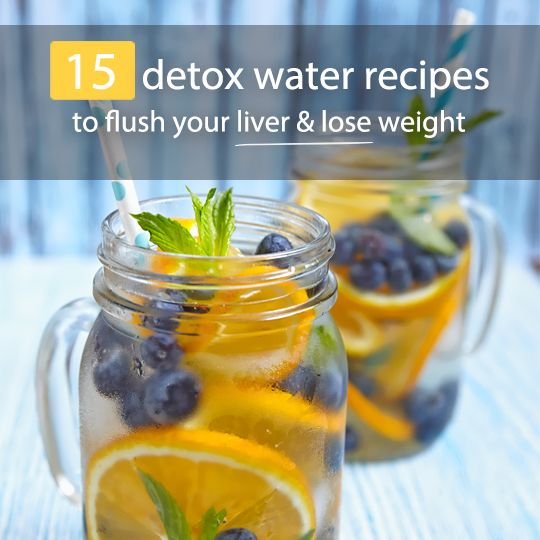 15 Detox Water Recipes To Flush Your Liver Drinking