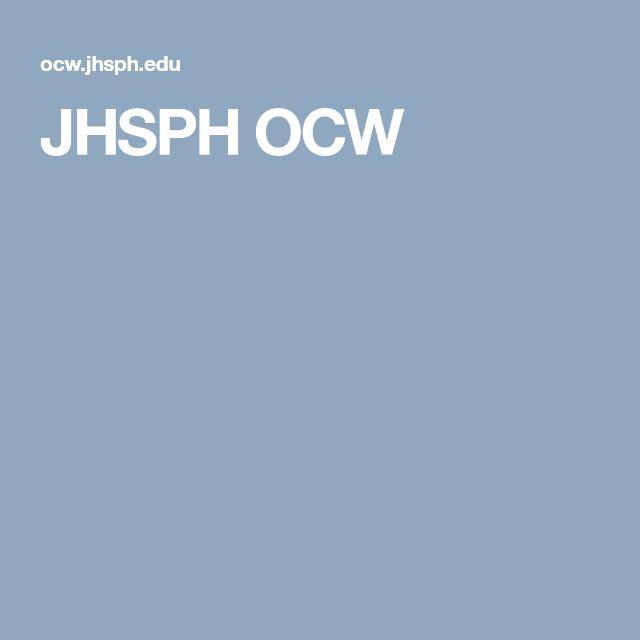 JHSPH OCW