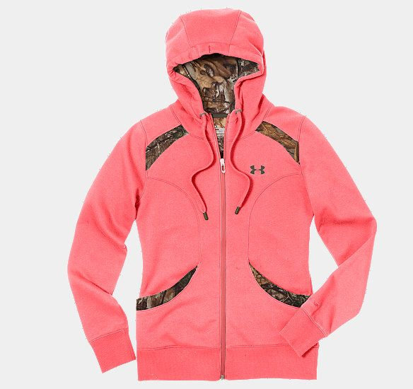 Women's UA MTN Charged Cotton® Storm Full Zip Hoodie @Allison j.d.m Borden , I keep seeing all these cute camo things from under armor ;)