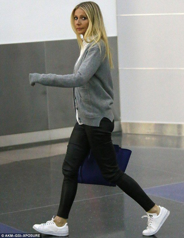 Flawless: Gwyneth was later seen at JFK airport for her departing flight out of New York C...